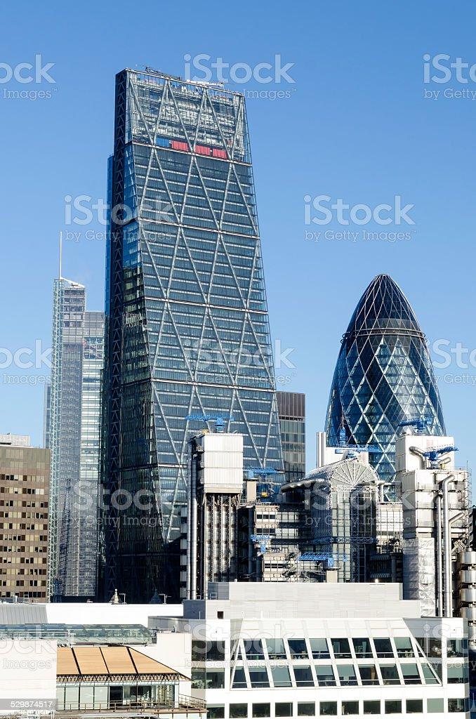 City of London skyscrapers stock photo