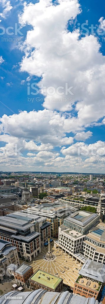 City of London square vertical panorama royalty-free stock photo