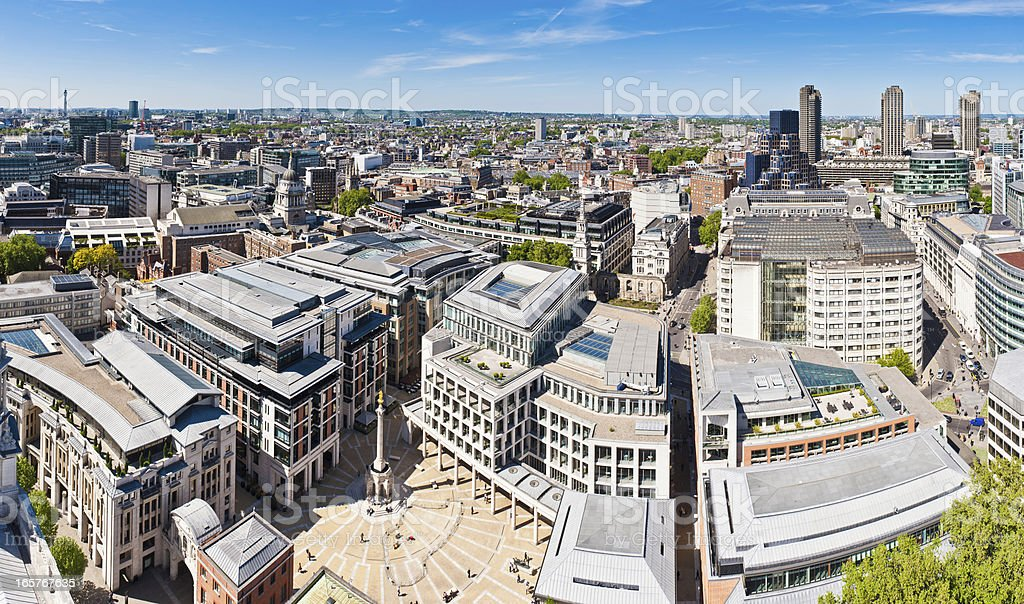 City of London Stock Exchange Paternoster Square stock photo