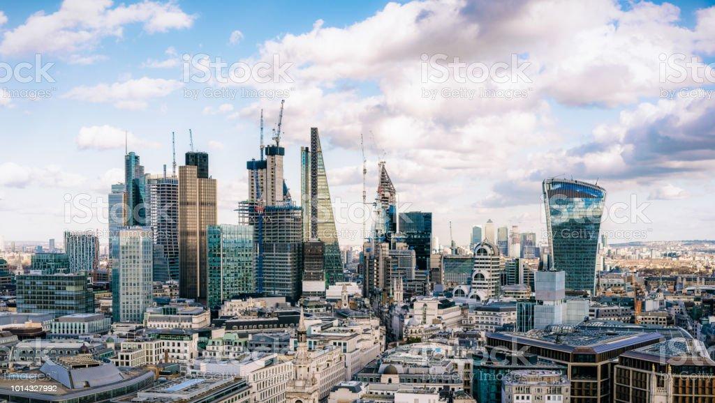 City of London - the UK's financial hub stock photo