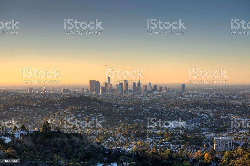 City of Los Angeles at Dawn stock photo
