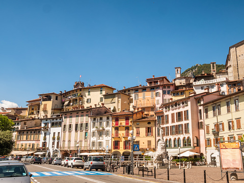 City of Lovere at lake Iseo, Italy