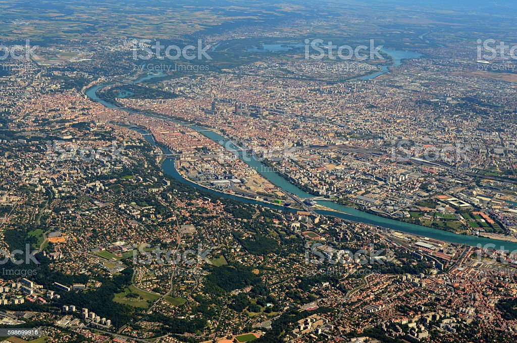 City of Lyon - France stock photo