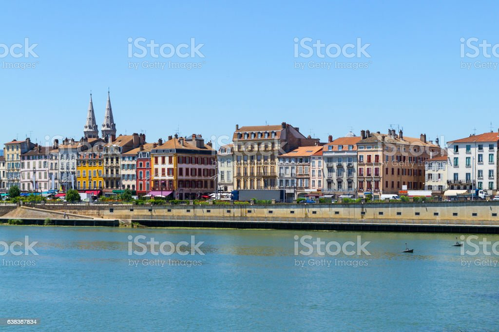 City of Macon in Burgundy, France stock photo