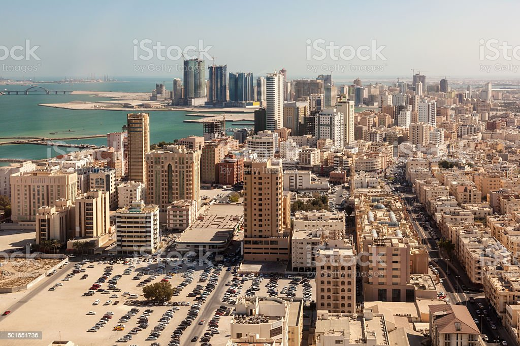 City of Manama, Bahrain stock photo