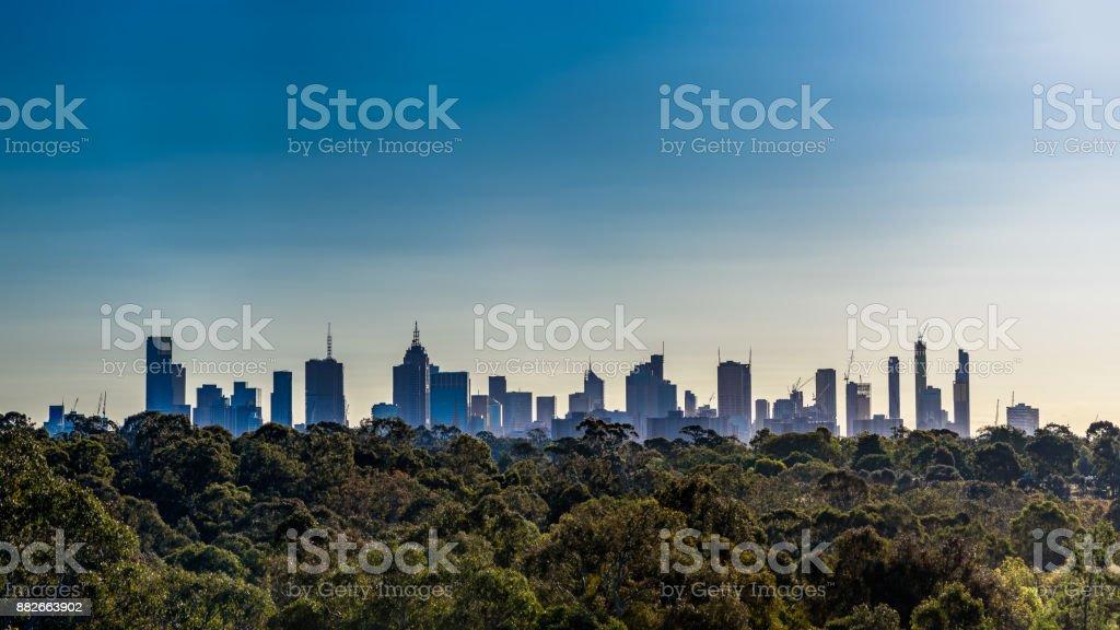 City Of Melbourne stock photo