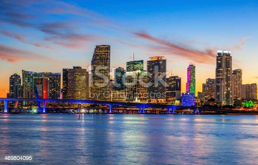 istock CIty of Miami Florida, summer sunset 469804095