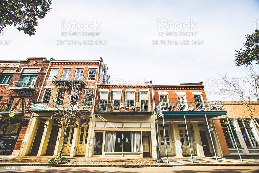 City of Mobile historic downtown. stock photo