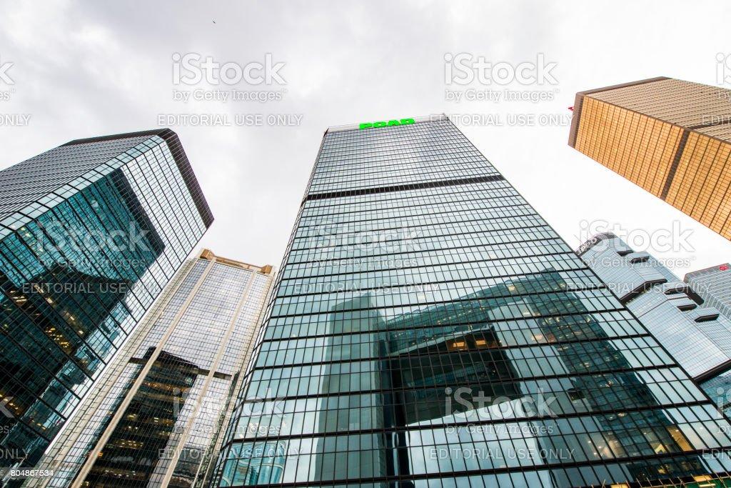 City of modern architecture on Jan 3, 2017 in Hong Kong, hong kong is International metropolis. stock photo