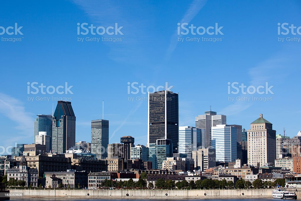 City of Montreal Cityscape in Summer royalty-free stock photo