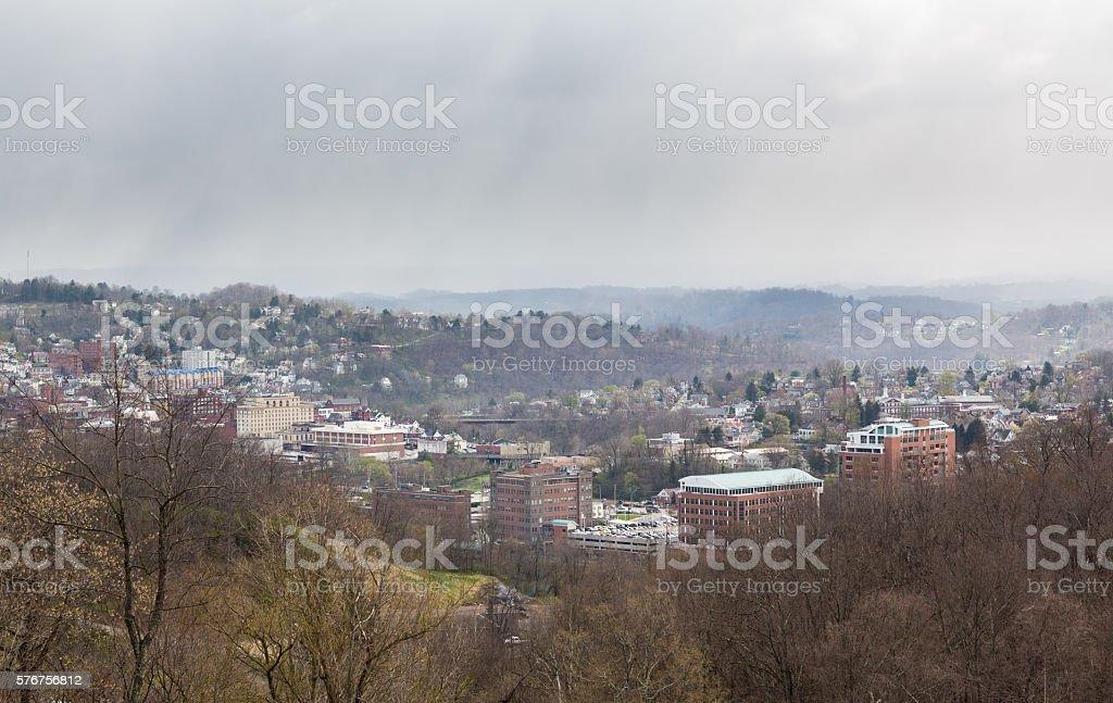 City of Morgantown in West Virginia stock photo