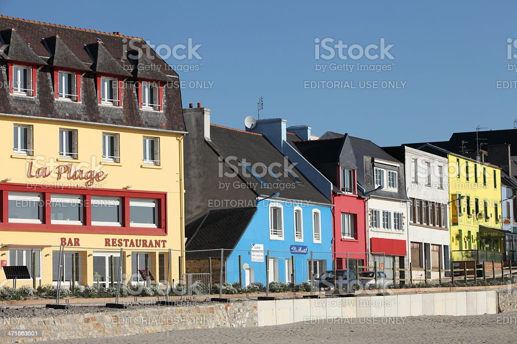 City of Morgat in Brittany, France stock photo