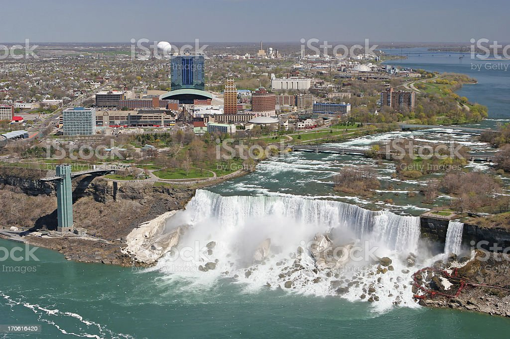 City of Niagara falls on the american side stock photo