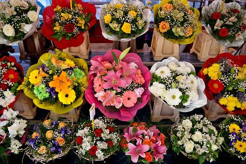 City of Nice - Flowers on the street market