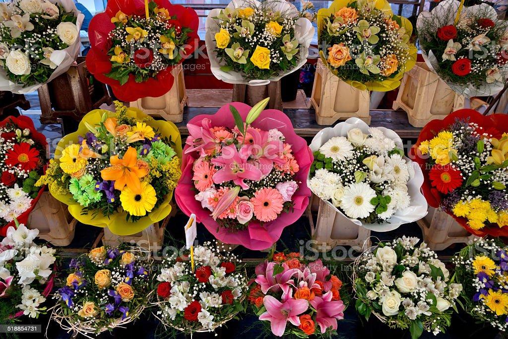 Nizza-Blumen auf dem Straßenmarkt – Foto