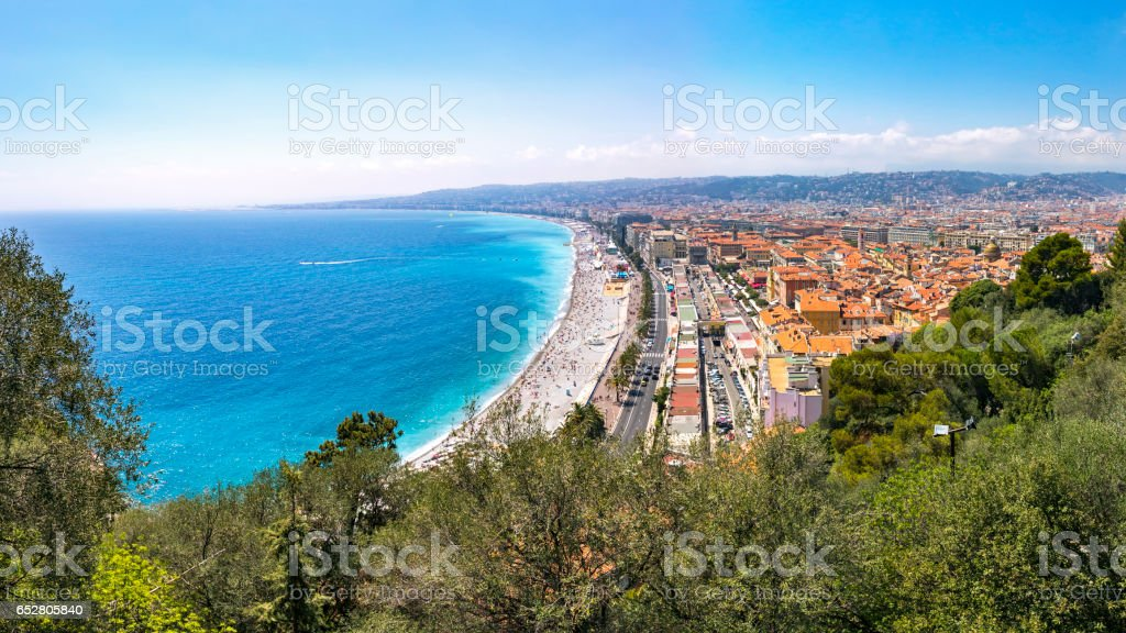 City of Nice, France stock photo