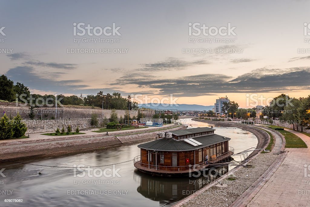 City of Nis at early morning stock photo