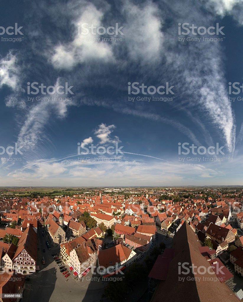 Ciudad de noerdlingen foto de stock libre de derechos