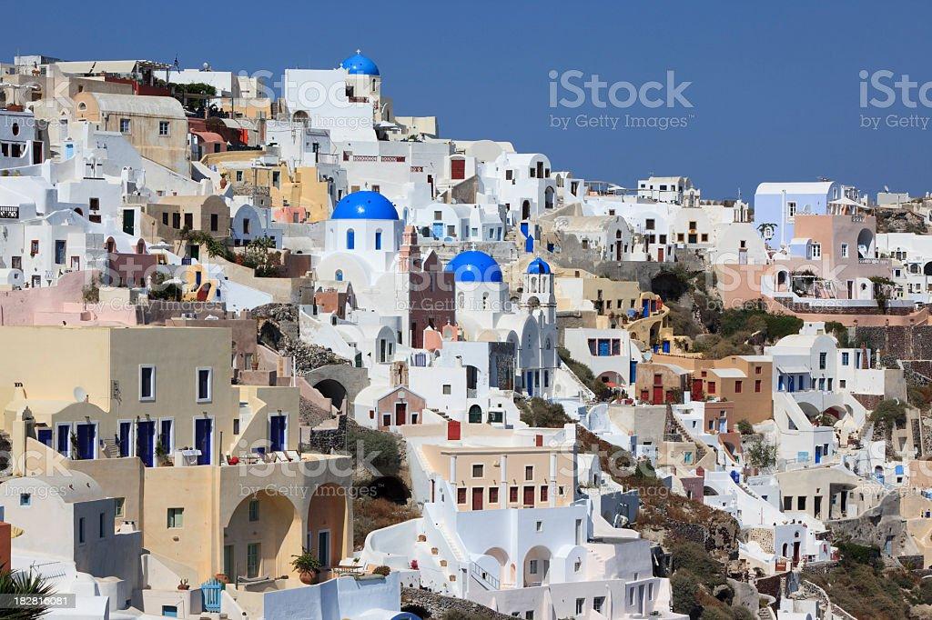City of Oia, Santorini royalty-free stock photo