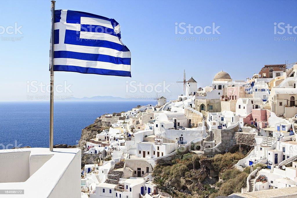 City of Oia, Santorini stock photo