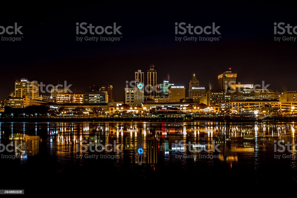 City of Peoria at night stock photo