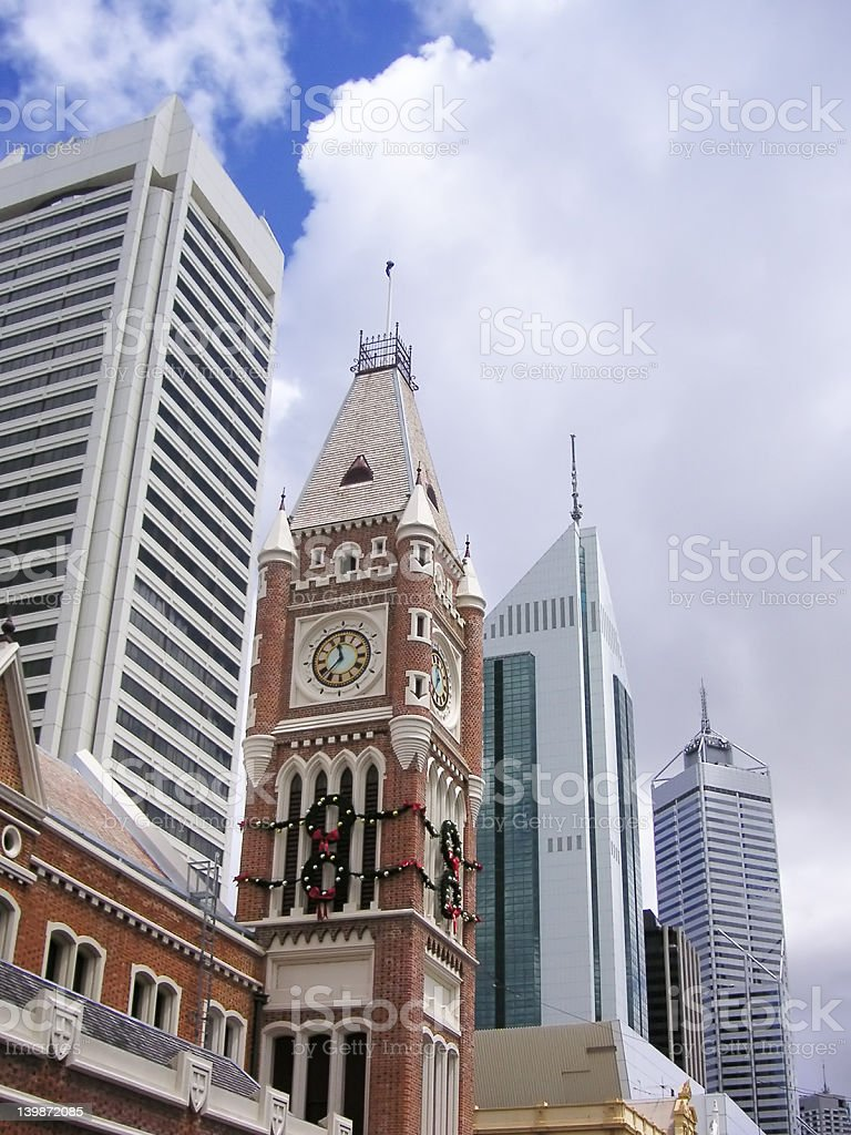 City of Perth, Western Australia: architectural style mix royalty-free stock photo