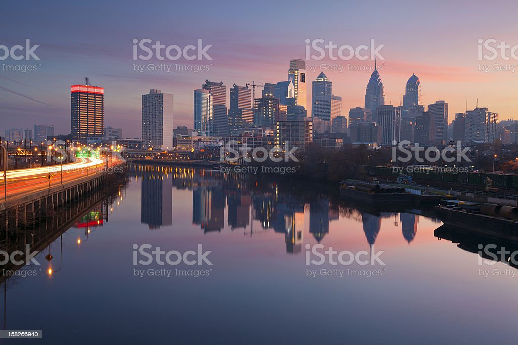 City of Philadelphia. stock photo