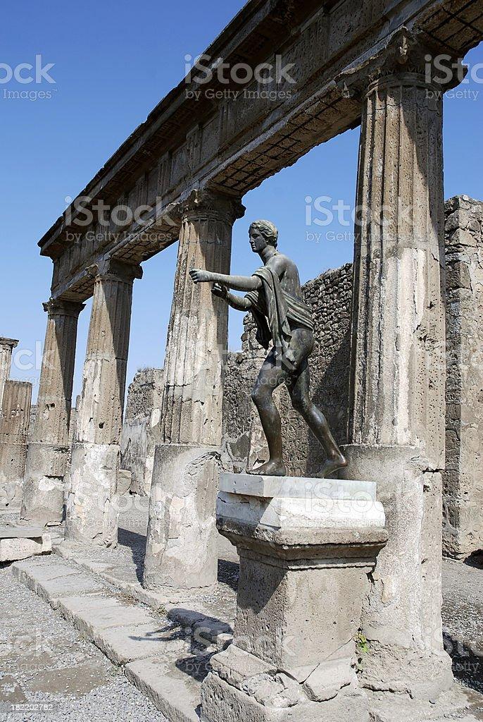city of Pompeii royalty-free stock photo