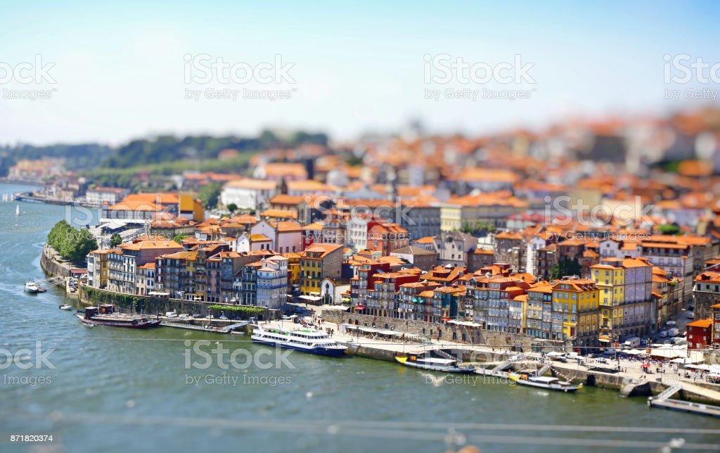 City of Porto and Douro river, Portugal stock photo