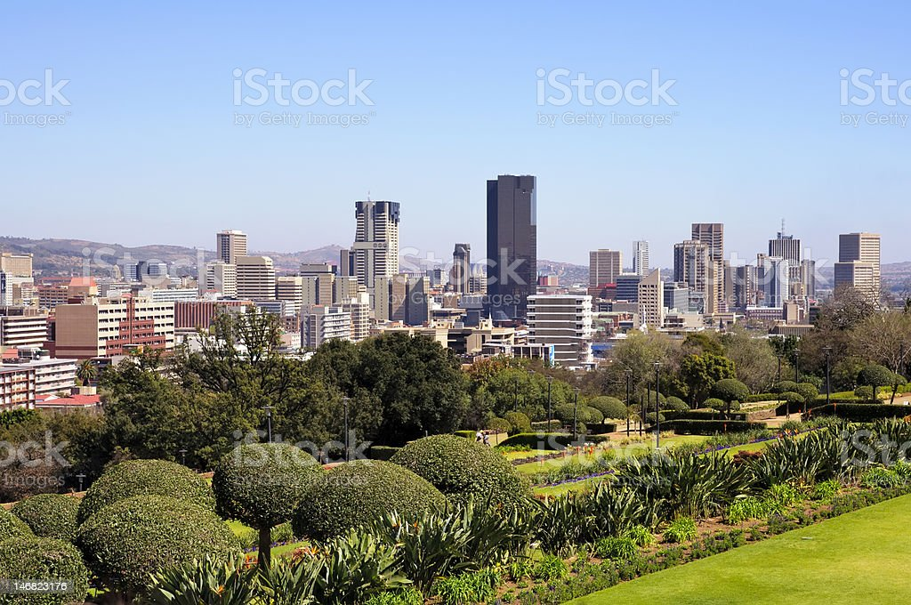 City of Pretoria Skyline, South Africa royalty-free stock photo
