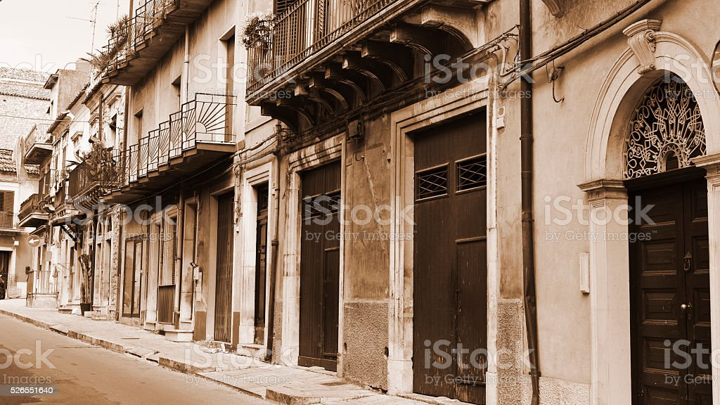 City of Ragusa stock photo