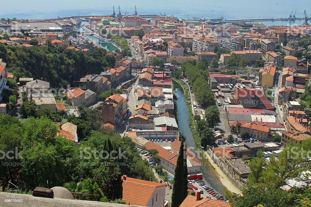city of Rijeka stock photo
