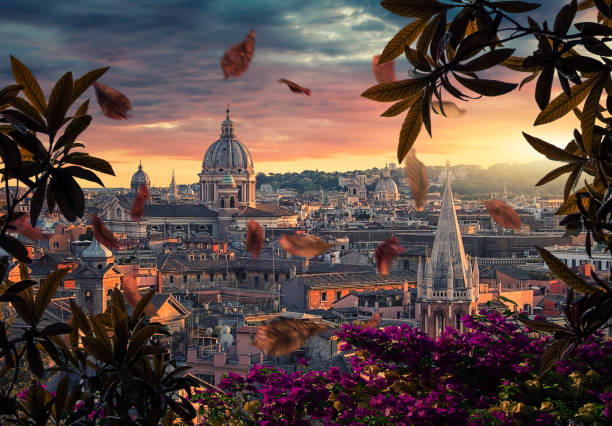 City of Rome in evening Beautiful sunset on the city of Rome in evening rome italy stock pictures, royalty-free photos & images