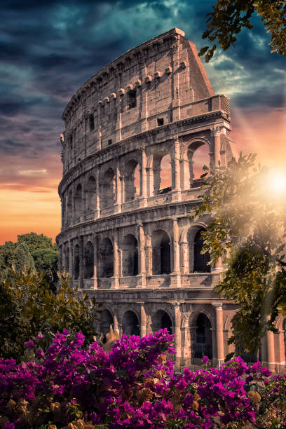 City of Rome in evening The Colosseum in Rome, Italy coliseum rome stock pictures, royalty-free photos & images