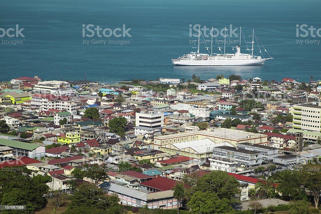 City of Roseau, Dominica, Caribbean, Travel Destination stock photo