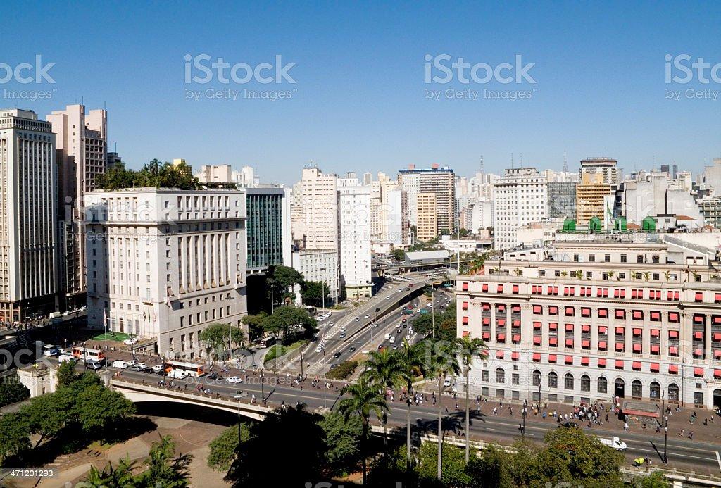 City of São Paulo (center) stock photo