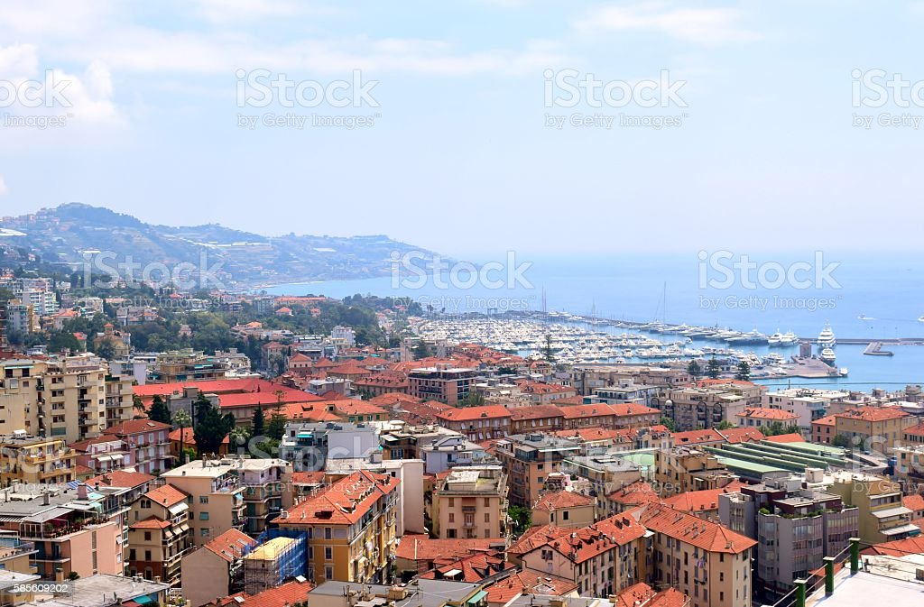 city of Sanremo in Italy stock photo