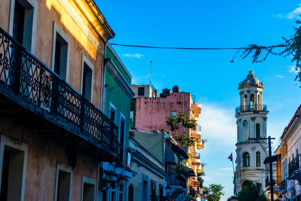 Stadt Santo Domingo - Innenstadt von Santo Domingo - Fassaden in der Innenstadt – Foto
