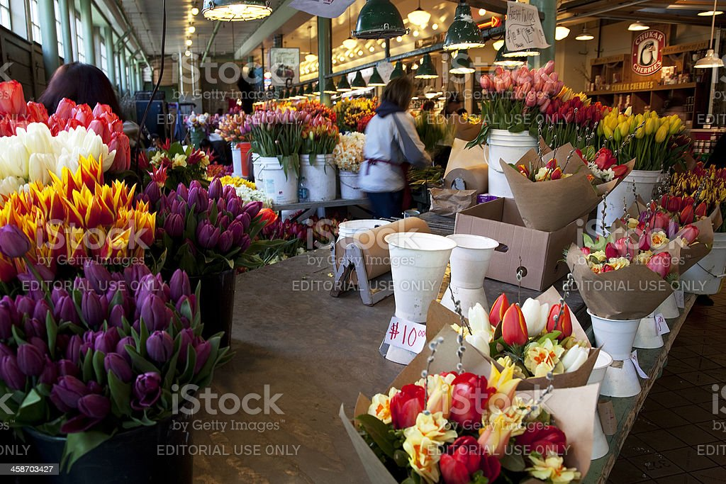 City of Seattle Pike Place Farmers Market royalty-free stock photo