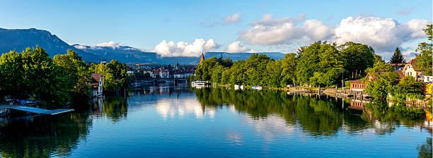 City of Solothurn, Switzerland, in summer/Panoramic photo. stock photo