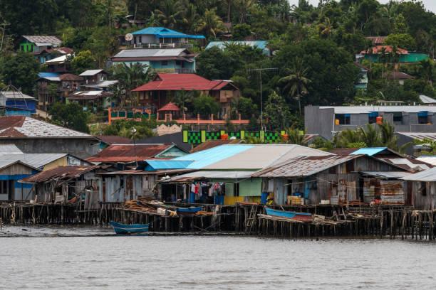 city of Sorong, Raja Ampat, Indonesia stock photo