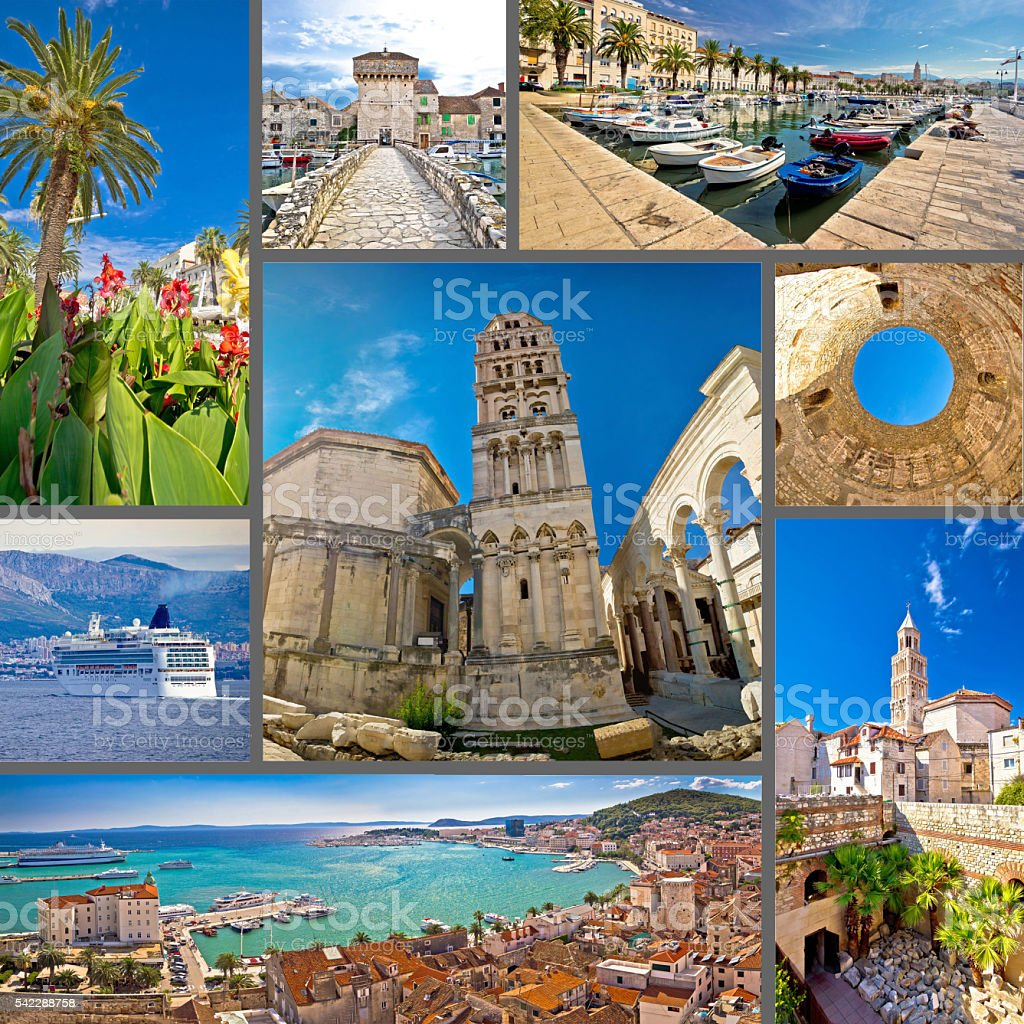 City of Split tourist collage - Photo