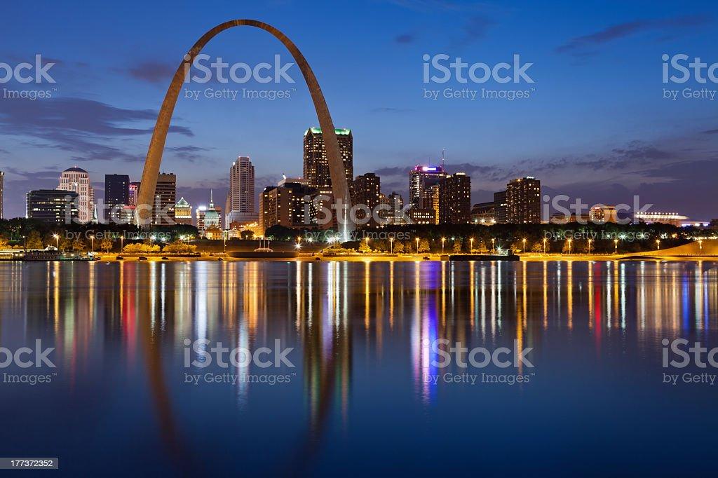 City of St. Louis skyline. stock photo