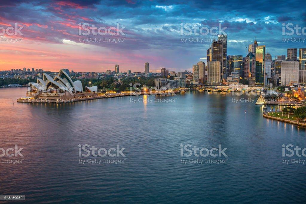 City of Sydney. stock photo