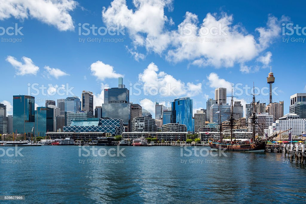 City of Sydney View Over Water and Harbour, Australia stock photo