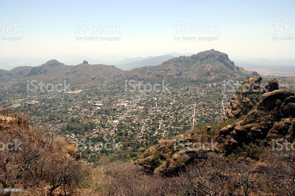 City of Tepoztlan, Mexico stock photo