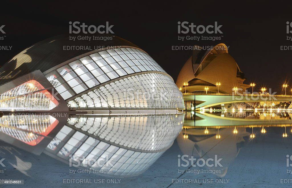 City of the Arts and the Sciences, Valencia Spain stock photo
