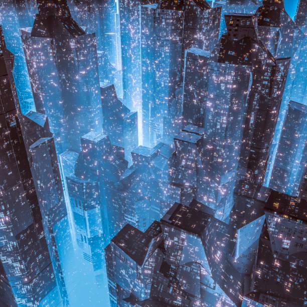 City of the future stock photo