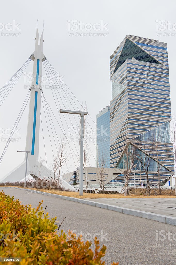 City of the Future Songdo South Korea royalty-free stock photo