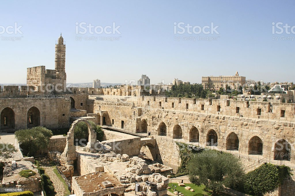 City of the king David, Jerusalem, Israel. stock photo